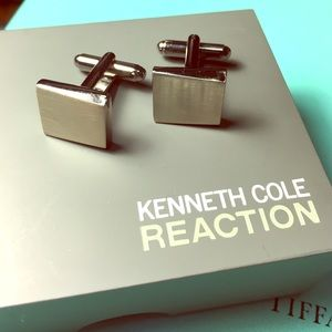 Kenneth Cole Reaction Other - Vintage Kenneth Cole Reaction silver cufflinks.