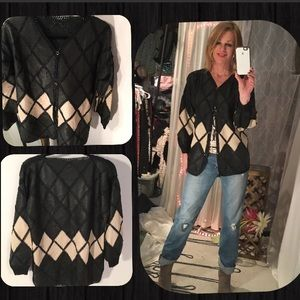 Jackets & Blazers - Leather and crochet jacket