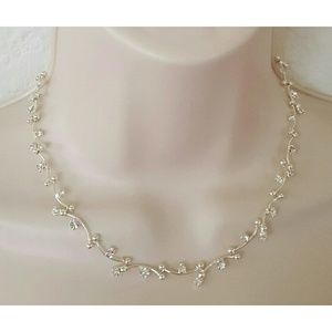 Monet Jewelry - Monet Silver Tone Necklace and Matching Earrings