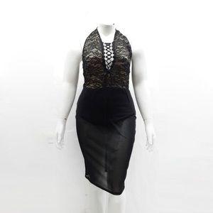 Dresses & Skirts - Black Lace Detail Dress