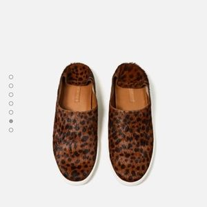 Leopard mohair sneakers