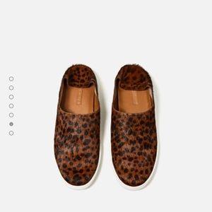 Zara Shoes - Leopard mohair sneakers