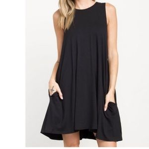 Dresses & Skirts - 🆕 sleeveless black swing dress ONE HOUR SALE