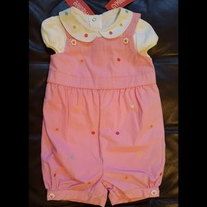 NWT Gymboree Girls Overall and Onesie Outfit