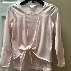 Other - Girls 77kids pink tie front shirt size 7/8 NWT