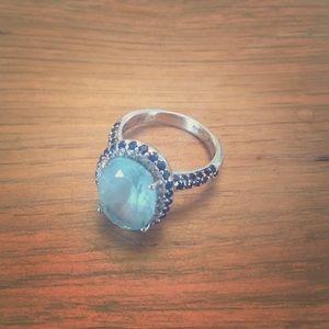 Le Vian Blue Topaz Sapphire Diamond Ring