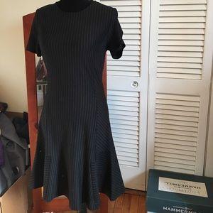 Pinstriped work dress