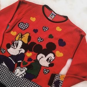 Sweaters - Minnie and Mickey Mouse Sweater