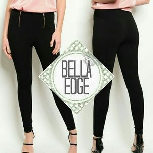 Bella Edge Pants - Black skinny leg pants