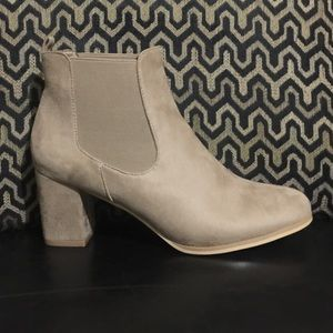 Southern Suede Taupe Booties