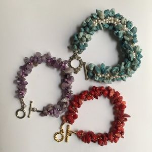 Jewelry - Set of Three Bead Bracelets VERY CUTE