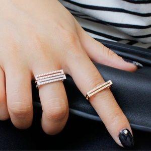 Rose Gold Flat Boho Minimal Ring