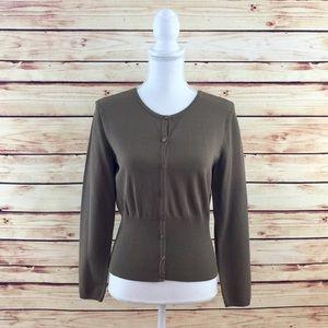 Talbots Sweaters - Make Bundle Offer • Talbots Olive Button Cardigan