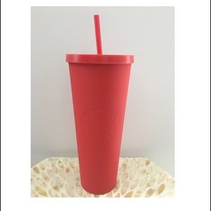 Starbucks Matte Red Plastic Tumbler • Venti 24 Oz