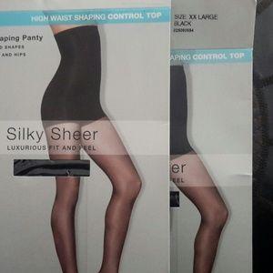 5b38e742afc2 Hanes Accessories - 2 Hanes silky sheer XXL high waist shaping panty