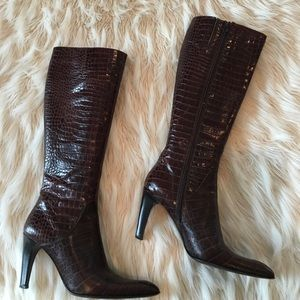 Via spiga leather boots size 7