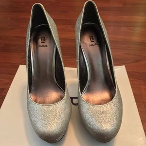 Bakers Shoes - Platform Silver Pumps