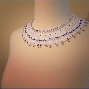 white lace bib necklace