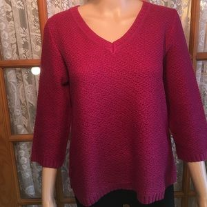 Christopher & Banks Wine Sweater Size M