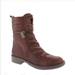 "Nine West ""Ferocity"" Leather Moto Boot"