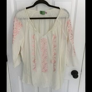 Calypso St. Barth Tops - Calypso St. Barth embroidered tunic boho top M