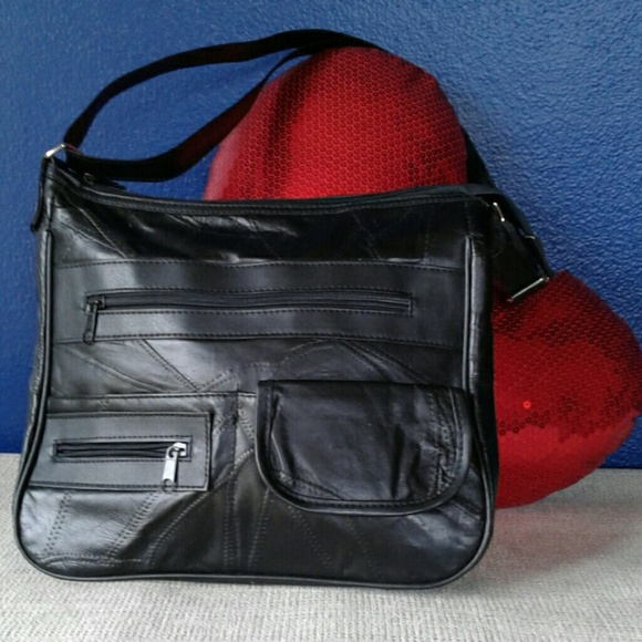 Handbags - PATCHED LEATHER SHOULDER/CROSSBODY PURSE