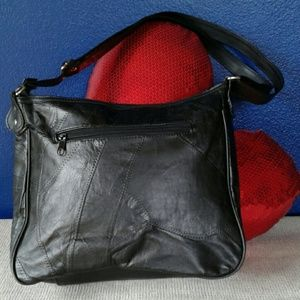 Bags - PATCHED LEATHER SHOULDER/CROSSBODY PURSE