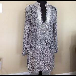 Chico's Tops - Chico's Silk Cheetah Sequin Tunic NWOT Size 1