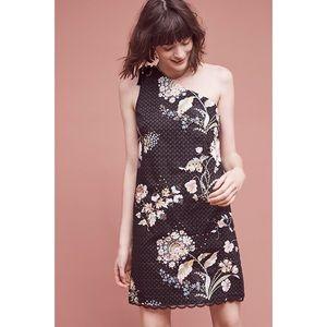 NWT Anthro Maeve Ashbury One-Shoulder Dress 12