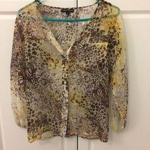 randy kemper Tops - Randy Kemper silk animal print blouse