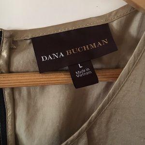 Dana Buchman Tops - Dana Buchman gold tank top w front pleat panel