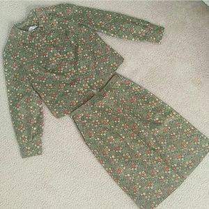 Vintage Other - Vintage Patterned Skirt Suit Set