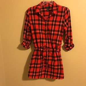 Plaid Tunic/Dress(can be worn either way)