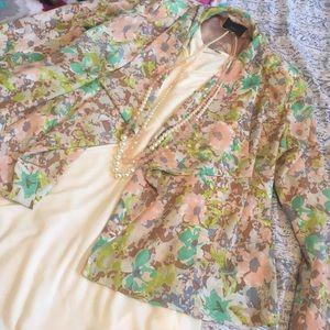 Sugarlips Jackets & Blazers - Floral Open Front Blazer