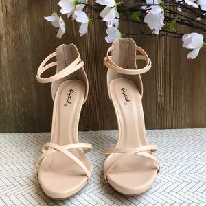 Shoes - Nude X-Band Stiletto Heels