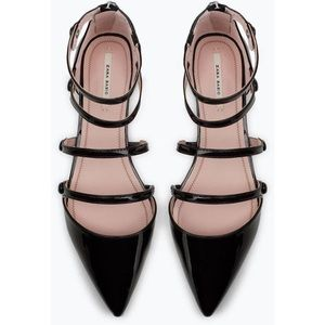 Zara flat shoes with ankle straps