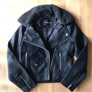 Obey Jackets & Blazers - Obey faux leather jacket