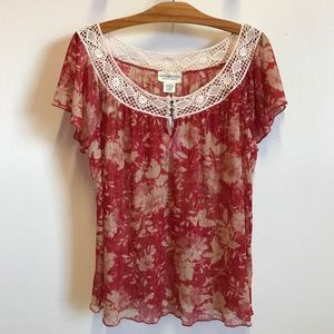 NWT Denim & Supply Ralph Lauren Lace Top women's L