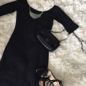 Velvet Torch Dresses & Skirts - Velvet Torch Black Midi Bodycon Dress - NWOT