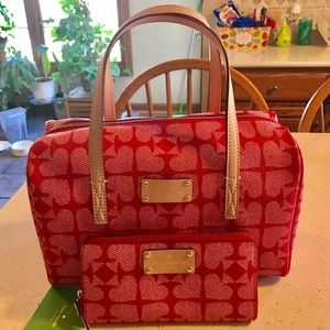 Handbags - ON SALE-----KATE SPADE-RED ACE OF SPADES-