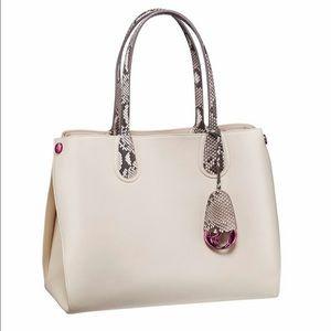 Christian Dior Handbags - Dior Addict calfskin/python shopping tote small