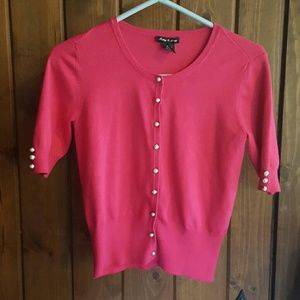 Audrey & Grace Sweaters - Hot pink cardi