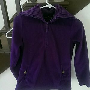 Purple lands end sweater