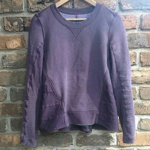 lululemon athletica Sweaters - Rare Ruffled Up Pullover Peplum Sweater