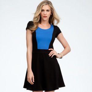 Colorblock Fit & Flare Dress