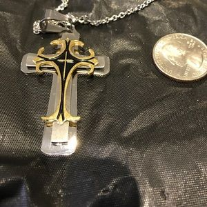 Other - Titanium Celtic cross with necklace