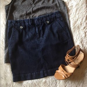 Banana Republic denim mini skirt
