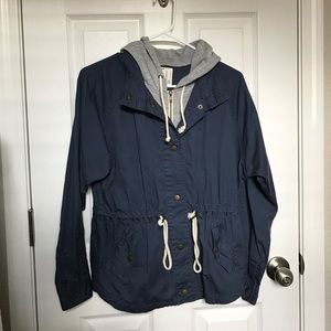 Forever 21 Hooded Utility Jacket