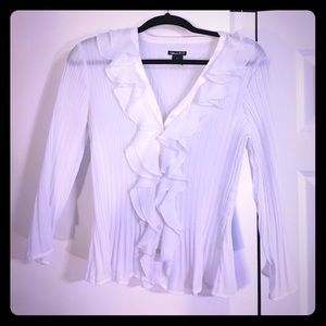 mandee Tops - Button down white blouse