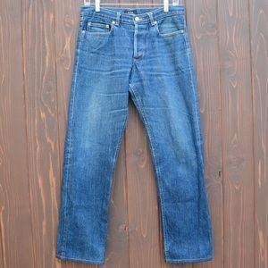 A.P.C. Other - A.P.C. Mens straight leg selvedge denim jeans.